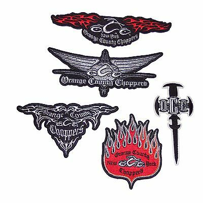 Orange County Choppers OCC Iron-On Biker Motorcycle Jacket Patch Collection NEW!