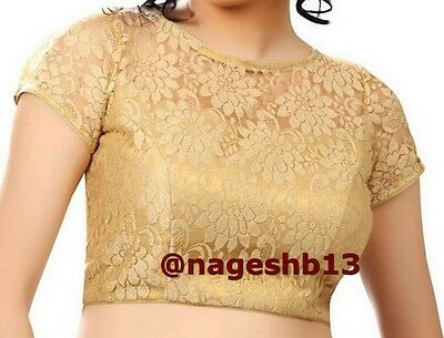 Readymade Saree Blouse, saree blouse, Golden Net Padded Choli, Designer Blouse