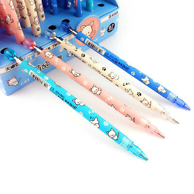 2X Cute 0.5+0.7mm Mechanical Pencil Automatic Pen Pencil School Office Supply BD
