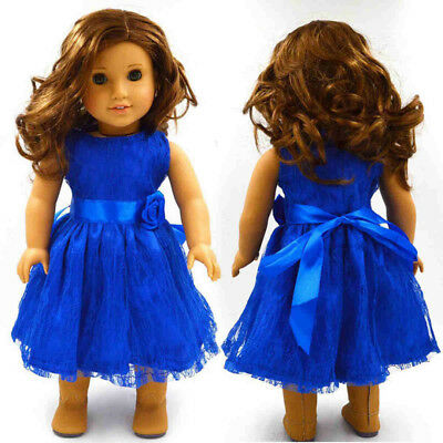 Fashion Handmade Clothes Dress for 18 inch American Girl Party Dolls Accessories
