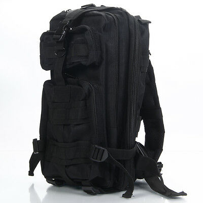Black Molle rucksack Military Assault Small 30L BACKPACK Tactical Army Day Pack