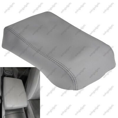 2008-2013 Toyota Highlander Leather Center Console Lid Armrest Cover Gray