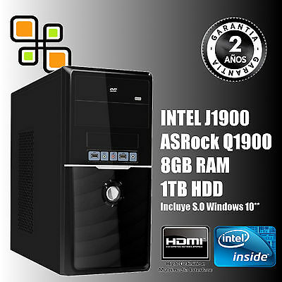Ordenador de sobremesa PC Intel Quad Core 9.6GHz + 8GB RAM + 1TB HDD (HDMI)