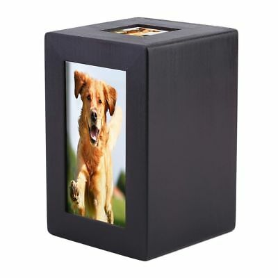 Wood Pet Dog Cat Cremation Urn Peaceful Pet Memorial Keep Sake Urn Photo Boxses