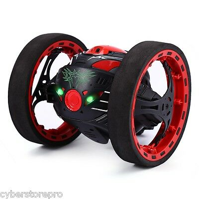 PEG SJ88 2.4G Remote Control Jumping Car 2 Second Rotation Bounce RC Toy BLACK