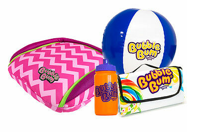 BubbleBum Car Booster Seat - On The Road Bundle - Pink Chevron