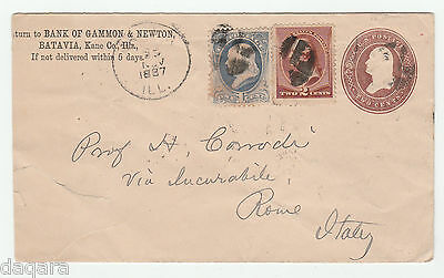 BC.649 - US cover, 1887, to Rome, Italy