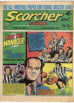 Scorcher and Score Comic 24th March 1973 Meet The Manager: Joe Harvey