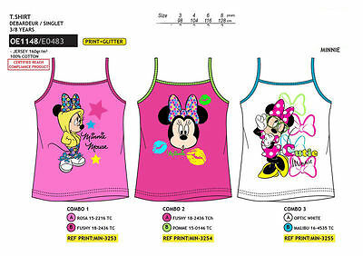 T.shirt Canotta  Bambina  Minnie  Disney Originale