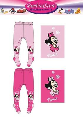 collant calzamaglia neonata minnie originali disney 62 68  74 80 86 92 cm