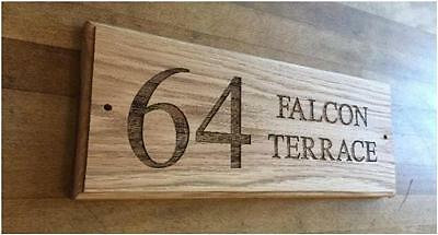 Wooden House Sign | Engraved House Name | Gate Sign Made to Order | Various Size