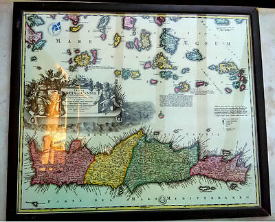 Greece HOMMAN 1714 Map of Crete CANDIA CANDIE