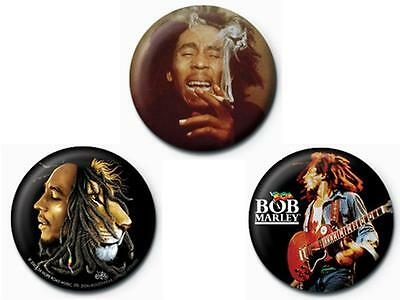 BOB MARLEY - 01 - Button-Set - Buttons - Badges - Neu