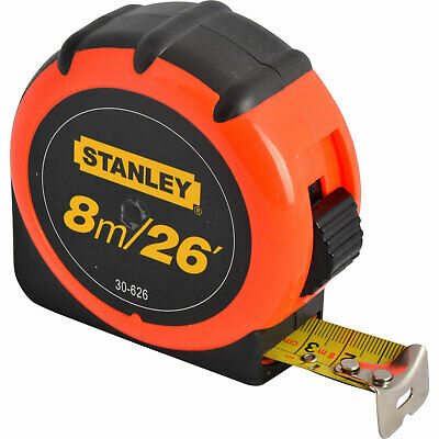 Stanley High Vis Tape Measure Imperial & Metric 26ft / 8m 19mm