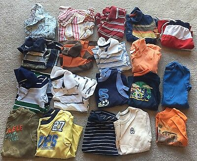 Lot of 24 Month Toddler Boys Summer Shirts Short Sleeve Polo Button Up T Shirt