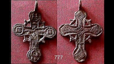 Antique Bronze Cross Amulet / Pendant