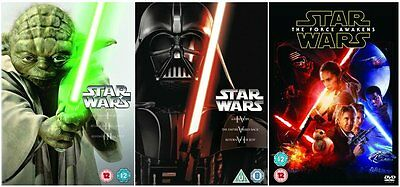 "Star Wars Complete Movie Collection Episode I - Vii Dvd Box Set 7 Discs R4 ""new"""