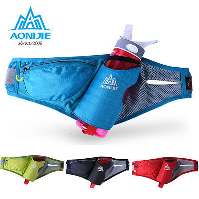Unisex Outdoor Sports Cycling Hiking Running Waist Bag Fanny Pack Water Bottle