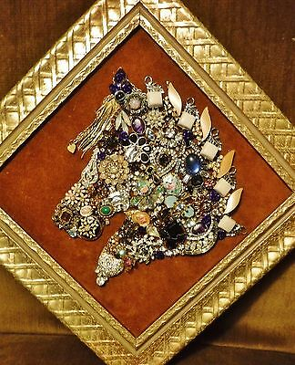 Jewelry Art Horse, with Flowers, & Sparkle,  handcrafted and signed by artist