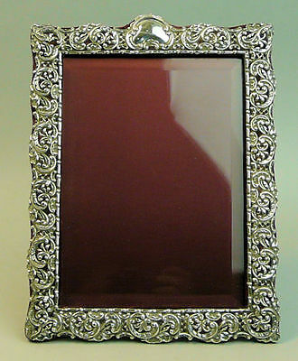 Fine Quality Antique Late Victorian Silver Photograph Frame - E.f. Braham