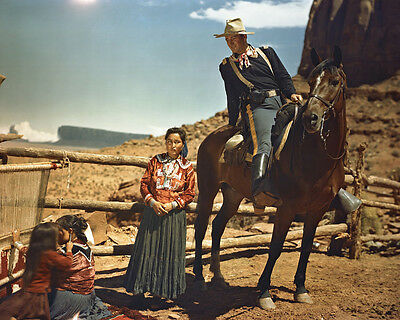 Fort Apache John Wayne Monument Valley Utah with Indians 8x10 Photo