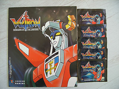 Panini: VOLTRON - Defender of the Universe, empty Album + 5 full packs, 1984 !!!