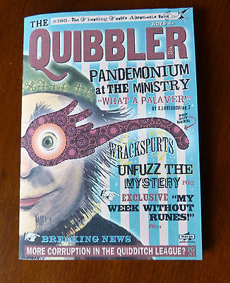 8 x 10 Quibbler. Harry Potter movie prop. 12 pages