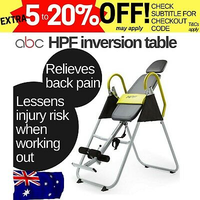 HPF folding gravity inversion table 180 degrees powder coated steel safety vinyl