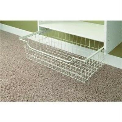 Easy Track 1308 Wire Basket, White, 8 Inch