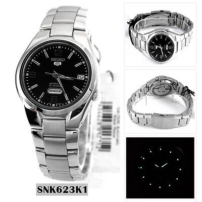Seiko Analog Casual Watch 5 Automatic Silver Mens SNK623K1