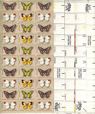 USA-United States 1977 13c Postage Butterflies 4 x Sheet Scot 1712-5