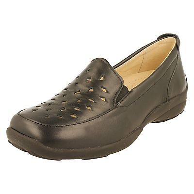DB Easy B /'Galway/' 70297R Ladies Red Leather Shoes 6E Fitting GO