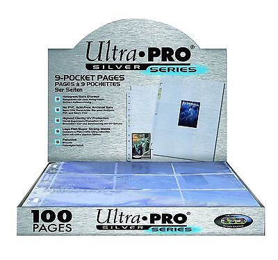 Ultra Pro Silver Series (100) 9 Pocket Page Protectors,New,baseball football nba