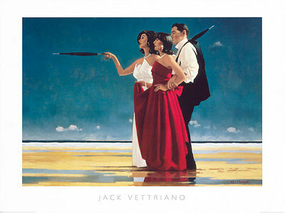 The Missing Man by Jack Vettriano High Quality Print 50 x 40cm Genuine 2018©