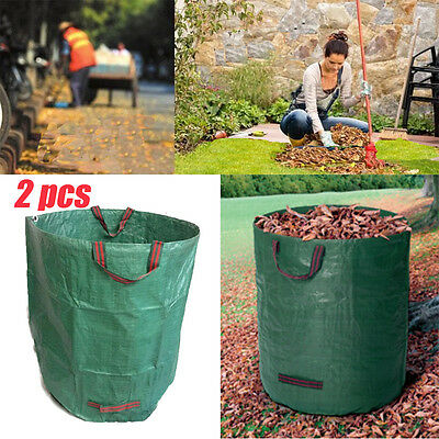2x Large Heavy Duty Garden Waste Bag Refuse Leaves Rubbish Recycling Sack Bag