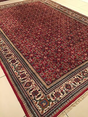 "BEAUTIFUL ANTIQUE 1985 PERSIAN HAND- KNOTTED  BIJAR CARPET RUG(11'5""X8'2""ft)"