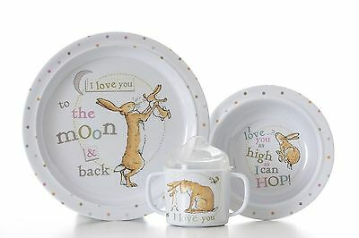 Guess How Much I Love You Little Baby Breakfast Gift Set cup bowl plate kids