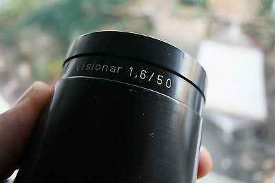 VISIONAR 50mm F1.6 projection lens carl zeiss Rathenower projector 1.6 50 mm