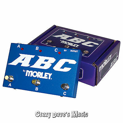 Morley ABC 3 Channel Selector Combiner Pedal Switch NEW