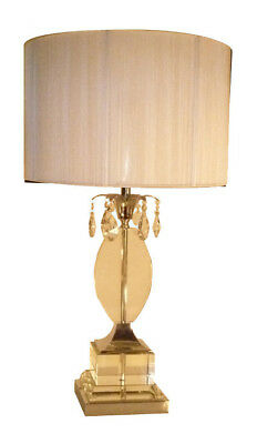 NEW Over Clear Crystal Table Lamp