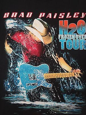 Brad Paisley H2O Frozen Over Tour Painted On Logo - Small Black T-Shirt F1377