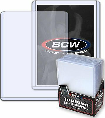 "Bcw (100 - 4 Packs Of 25) Bcw Brand Trading Card Toploaders - 3"" X 4"""