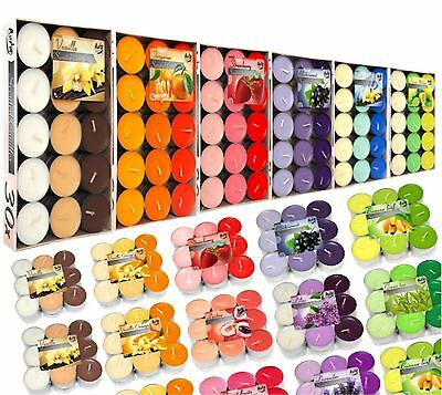 Aromatic Scented Tea Lights Wedding Candles 18 & 30 Pcs Wide Range of Fragrances