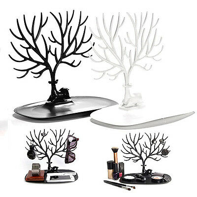 Jewelry Display Holder Bracelets Earring Necklace Ring Show Tree Stand Hanger
