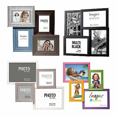 Rustic Shabby Chic Kids Colour Black & White Multi Photo Holder Family Frame