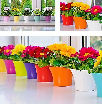 Indoor Outdoor Plastic Plant Flower Pot Garden Home Decor Wedding Round