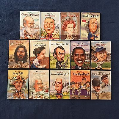 Lot of 14 Children's Books: Who Was & Who Is Series - Paperbacks