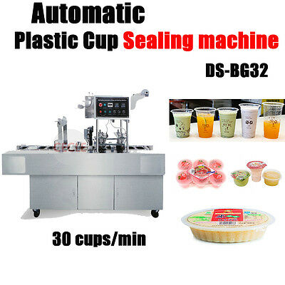 Automatic Plastic Cup Sealing Machine 30 Cups/min
