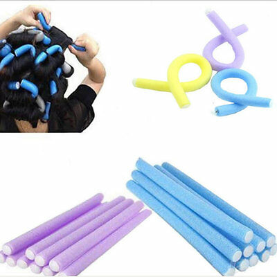 20PCS Curler Makers Soft Foam Bendy Twist Curls Tool DIY Styling Hair Rollers