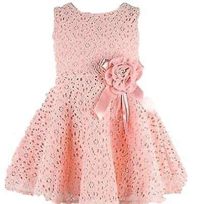 Flower Kids Girls Dress Baby Toddler Lace Princess Party Dress Birthday Wedding